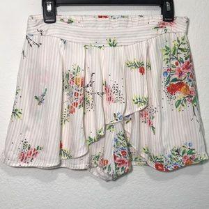 Free People Skort Skirt Shorts Stretch Waist Sz S